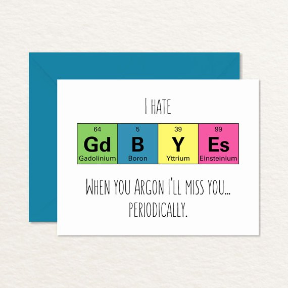 Printable Going Away Cards Luxury Goodbye Card Printable Funny Goodbye Card Nerdy