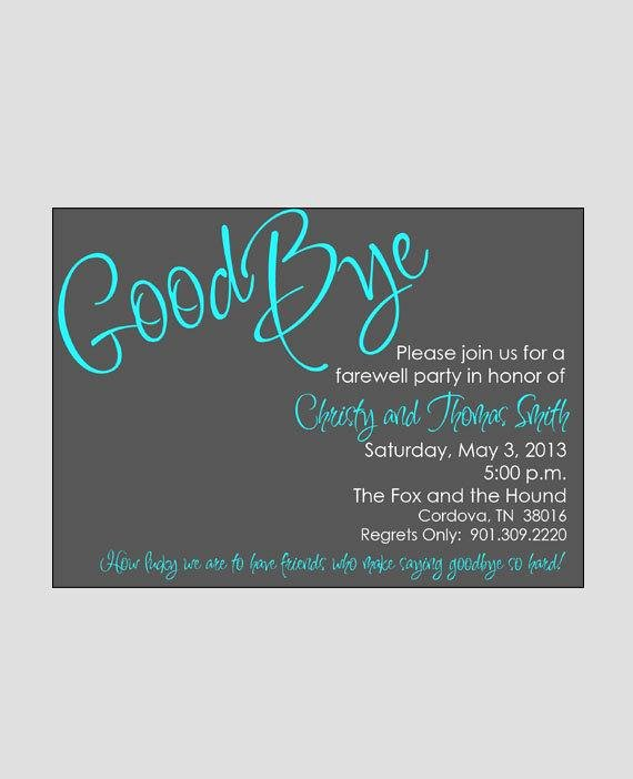 Printable Going Away Cards New Farewell Bon Voyage Going Away Invitation Printable