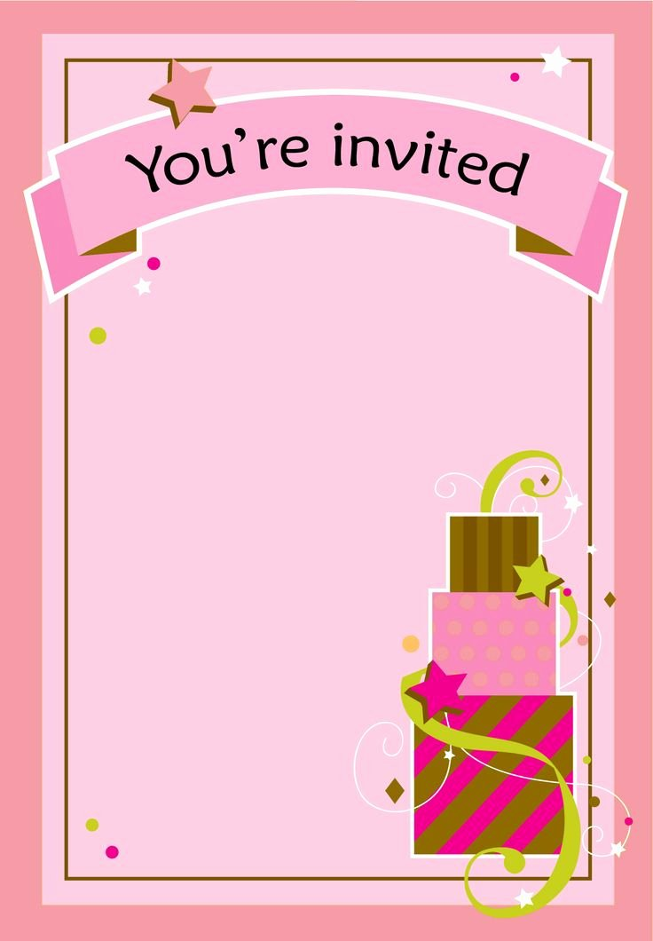 Printable Invitations for Free Awesome Free Printable Girl Fun Birthday Invitation