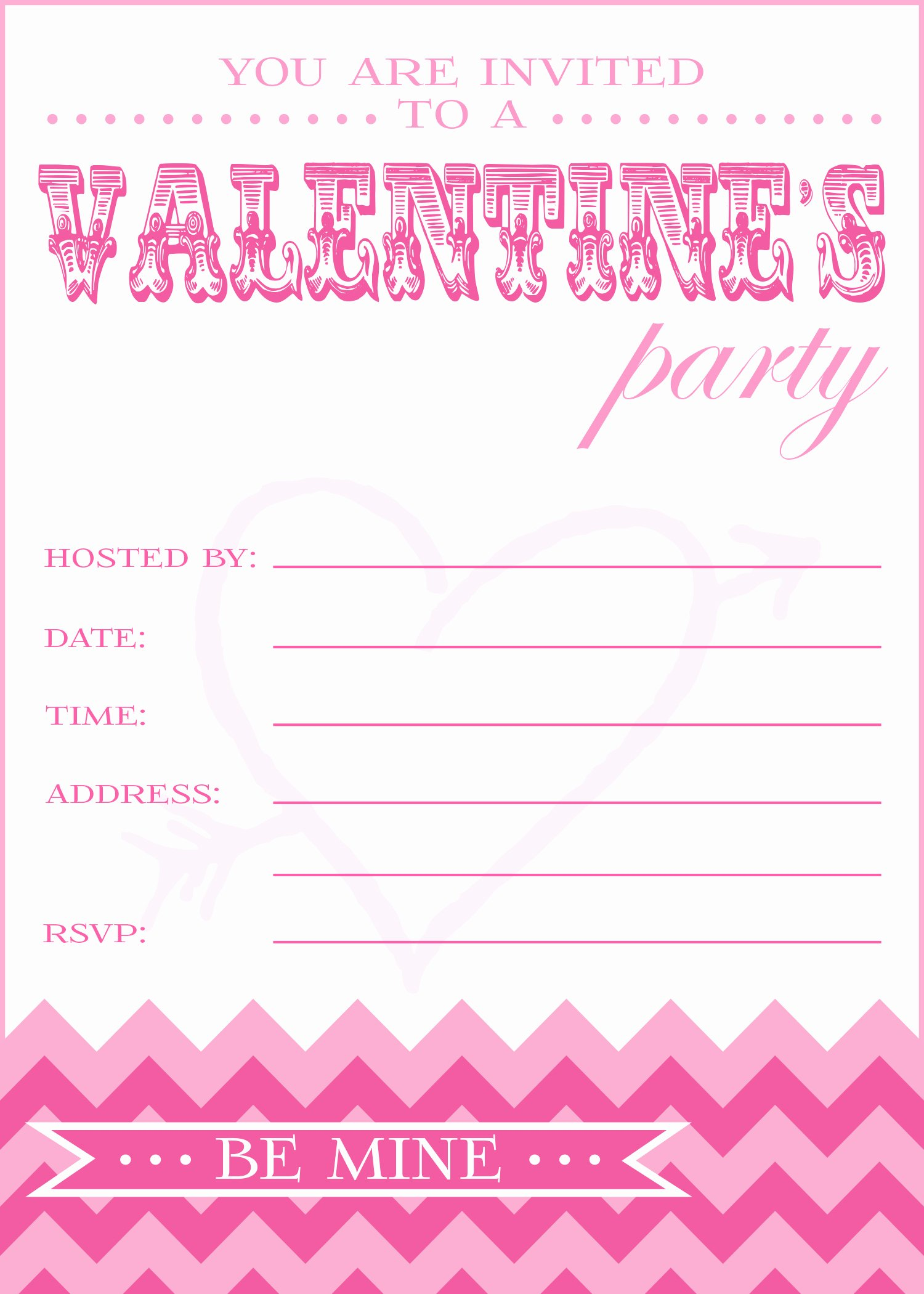 Printable Invitations for Free Awesome Free Valentine S Day Party Printables From Pick Print