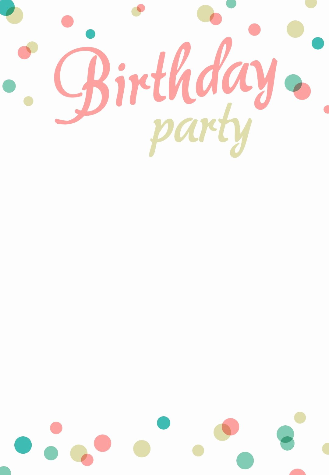 Printable Invitations for Free Best Of Birthday Party Invitation Free Printable