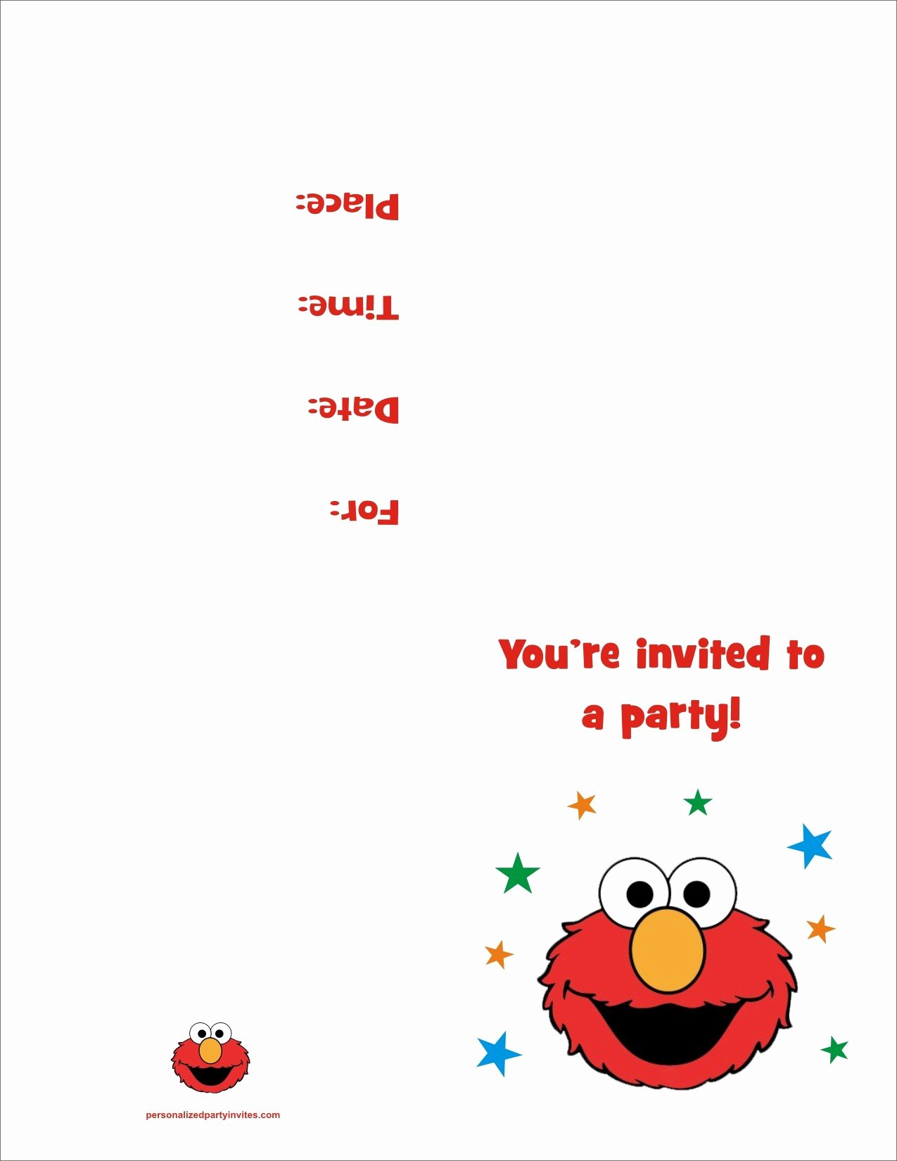 Printable Invitations for Free Best Of Elmo Free Printable Birthday Party Invitation Personalized