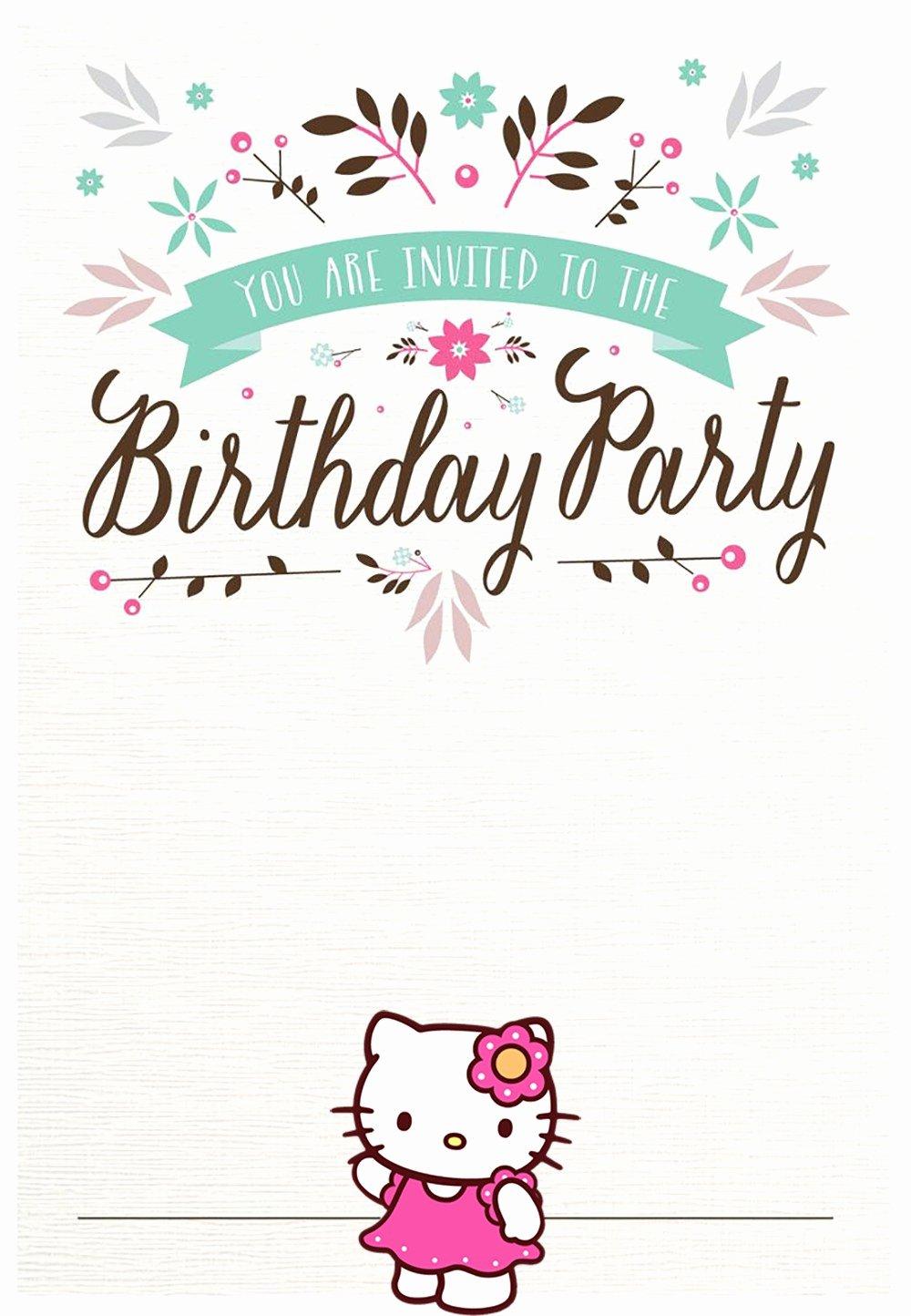 Printable Invitations for Free Elegant Hello Kitty Free Printable Invitation Templates