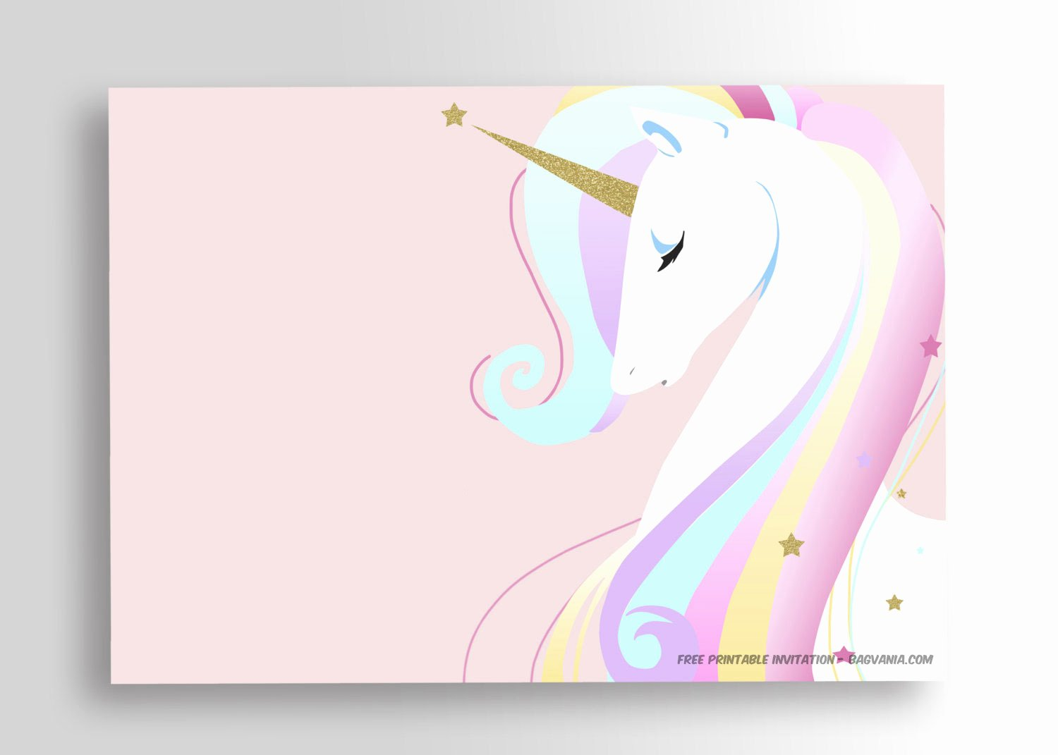 Printable Invitations for Free Fresh Free Printable Unicorn Birthday Invitation Template – Free