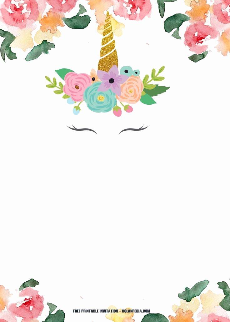 Printable Invitations for Free Fresh Free Printable Unicorn Rainbow Invitation