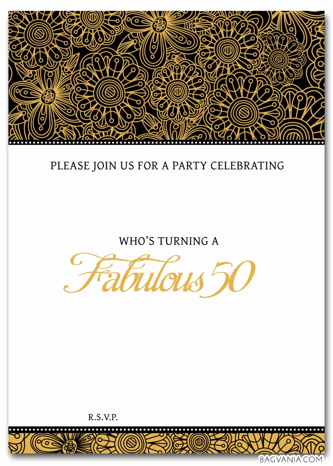 Printable Invitations for Free Inspirational Free 50th Birthday Party Invitations Wording – Free
