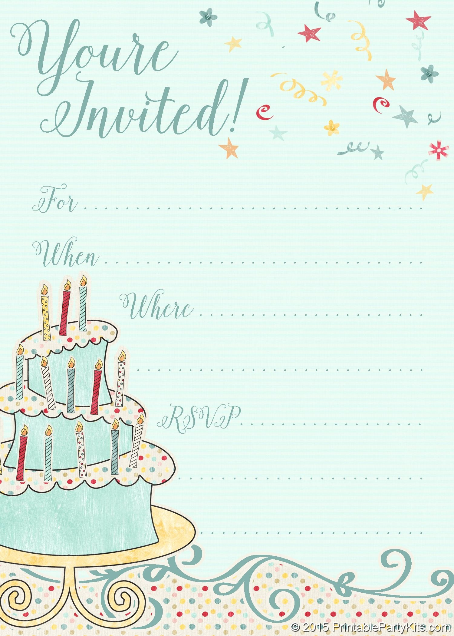 Printable Invitations for Free Lovely Free Printable Whimsical Birthday Party Invitation