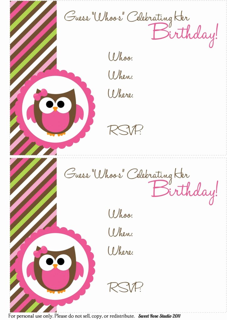Printable Invitations for Free New 41 Printable Birthday Party Cards & Invitations for Kids