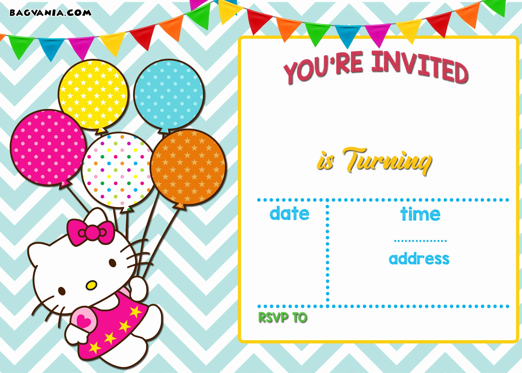 Printable Invitations for Free New Free Personalized Hello Kitty Birthday Invitations