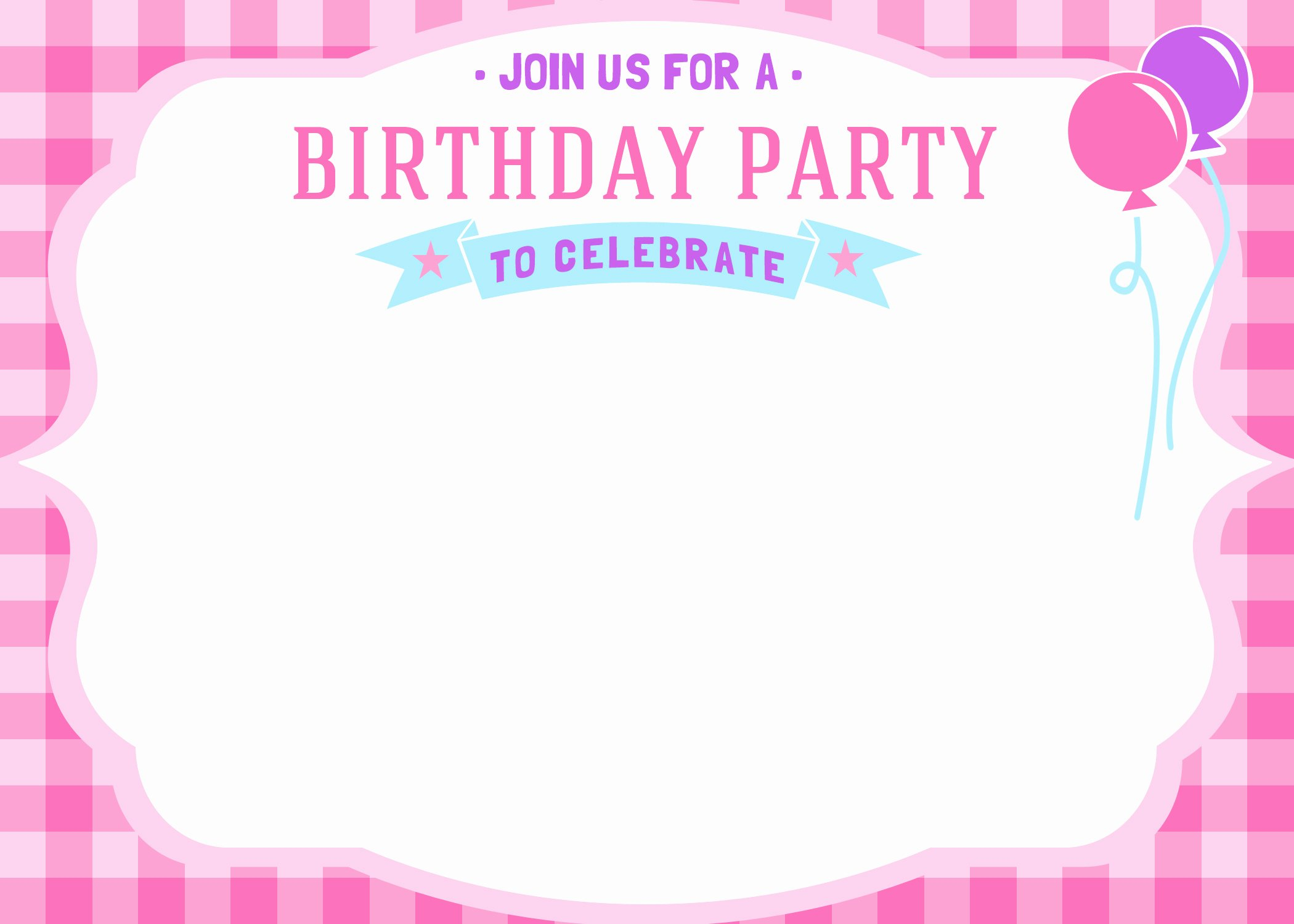 Printable Invitations for Free New Free Printable Girls Birthday Invitations – Free Printable