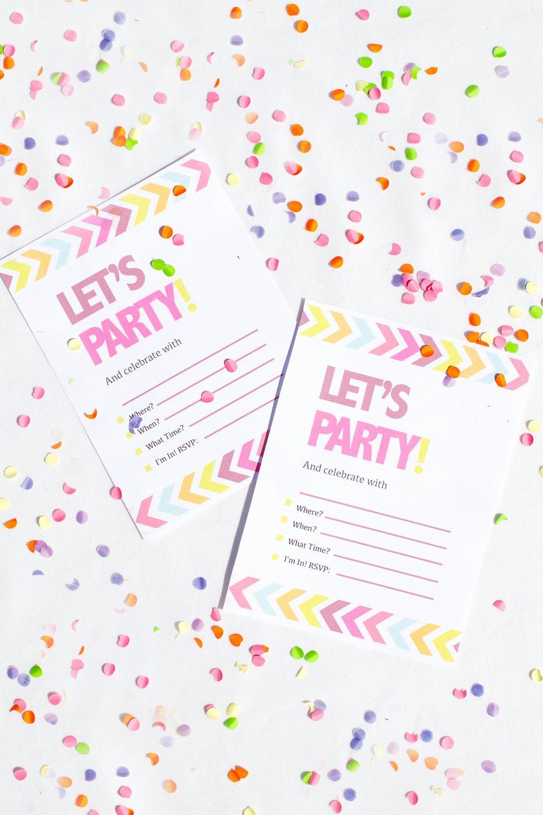 Printable Invitations for Free New Free Printable Neon & Chevron Hen Party Bachelorette Party