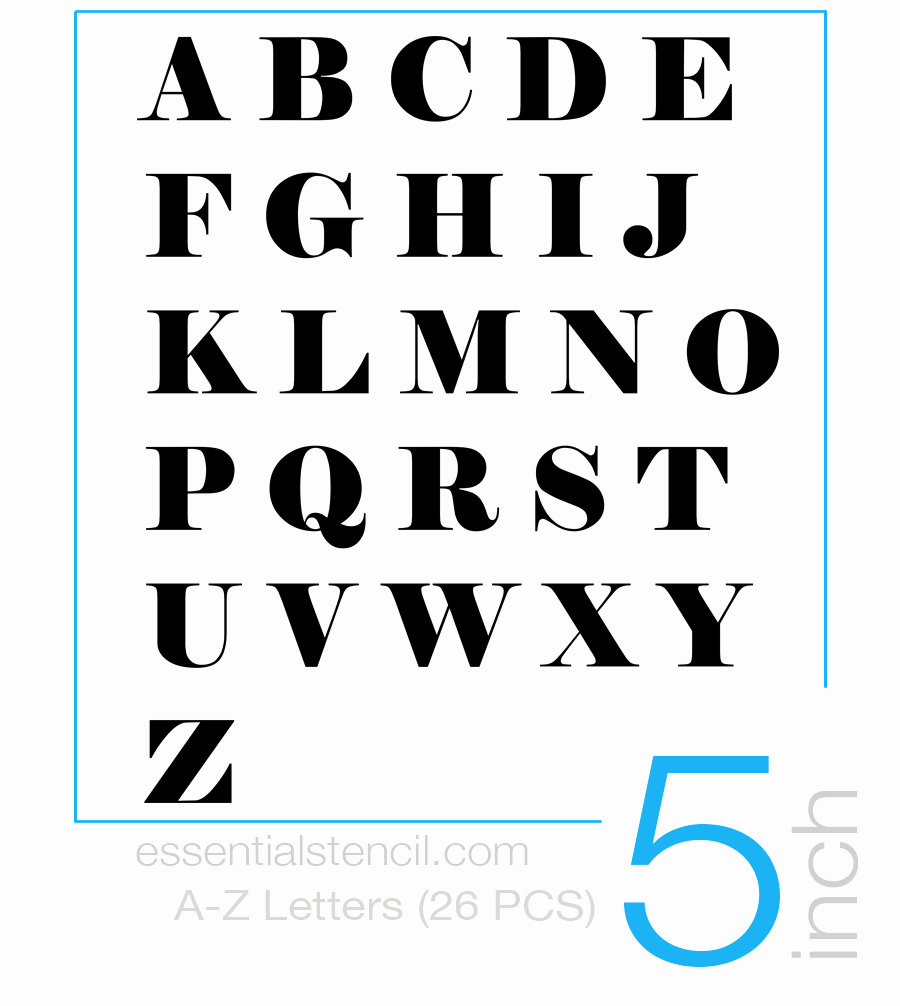 Printable Letter Stencils for Wood Inspirational Stencils for Wood Signs Essential Stencil