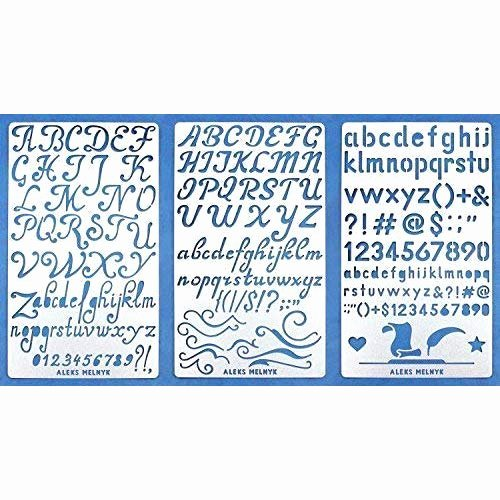 Printable Letter Stencils for Wood Lovely Metal Stencil Letters & Numbers Amazon