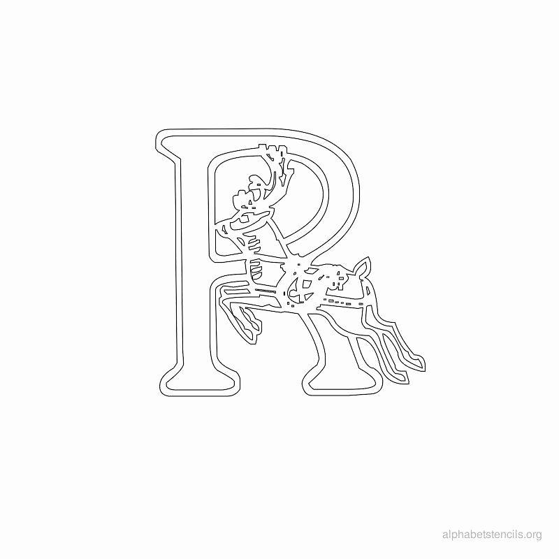 Printable Letter Stencils for Wood Luxury Print Free Alphabet Stencils Christmas R
