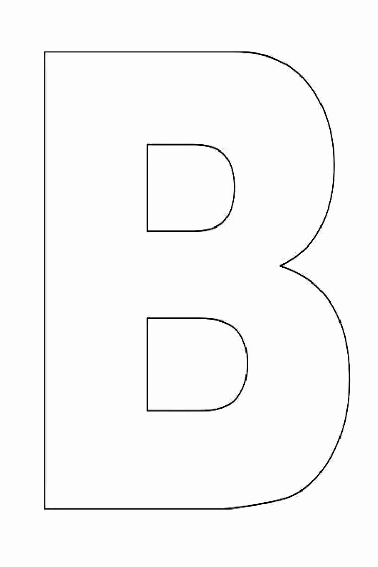 Printable Letter Writing Template Awesome Alphabet Letter B Template for Kids 1600×2400