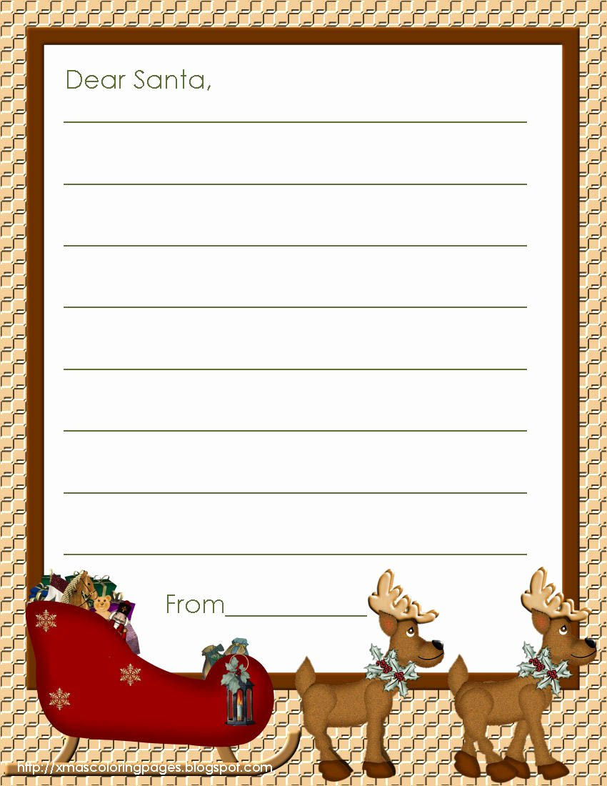 Printable Letter Writing Template Beautiful Xmas Coloring Pages
