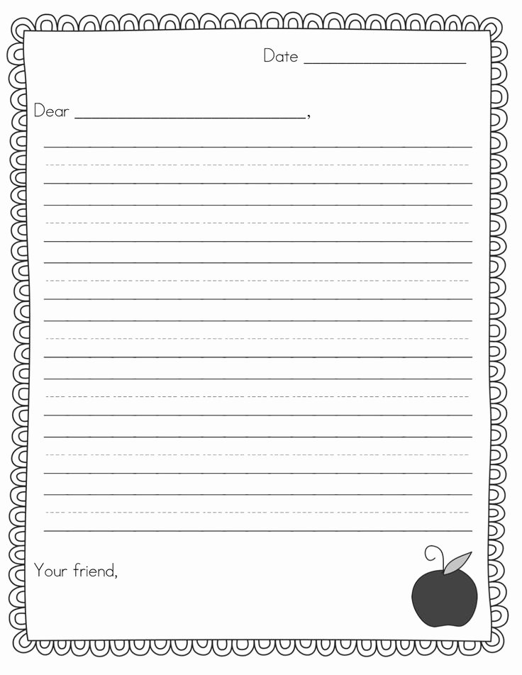 Printable Letter Writing Template Luxury Best 25 Friendly Letter Ideas On Pinterest