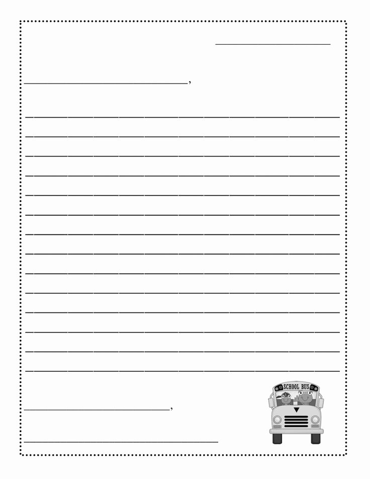 Printable Letter Writing Template New Friendly Letter Templateletter Writing Template formal