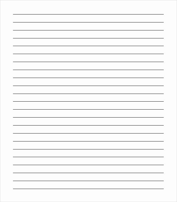 post college ruled paper printable