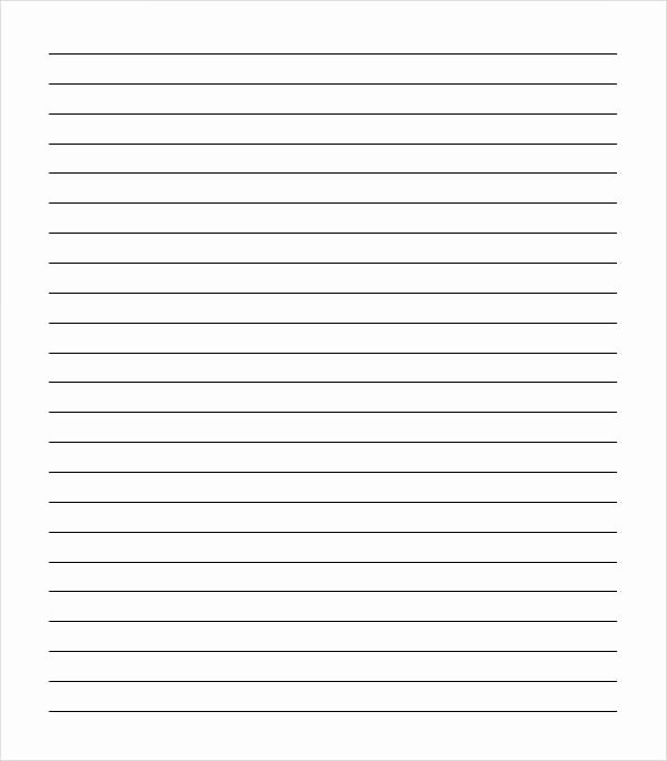 Printable Lined Paper College Ruled Inspirational Sample College Ruled Paper Template 9 Free Documents In