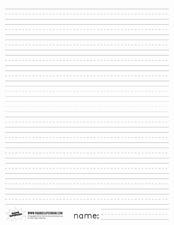 Printable Lined Paper for Kids Awesome Printable Primary Lined Paper Paging Supermom