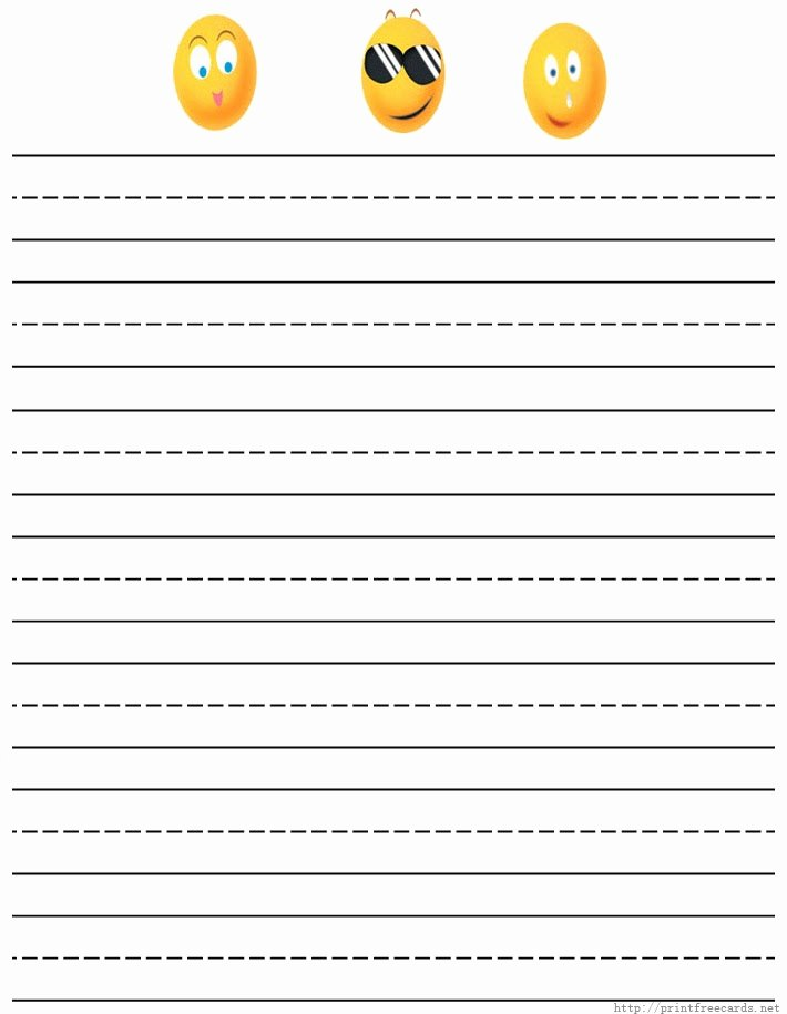 Printable Lined Paper for Kids Beautiful Kids Handwriting Paper
