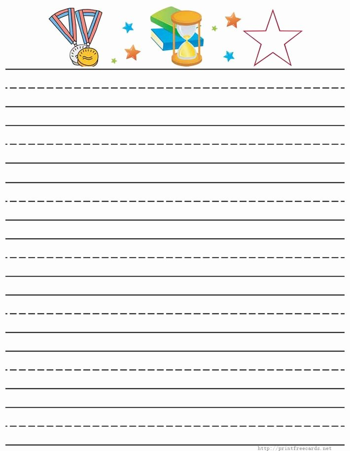Printable Lined Paper for Kids Best Of Free Customized Writing Paper Dltk S Custom Writing