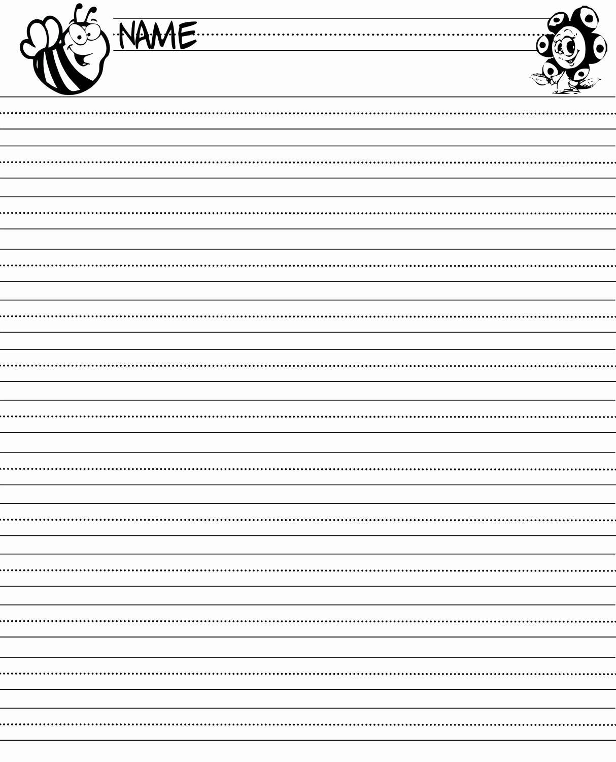 Printable Lined Paper for Kids Best Of Writing Paper Printable for Children