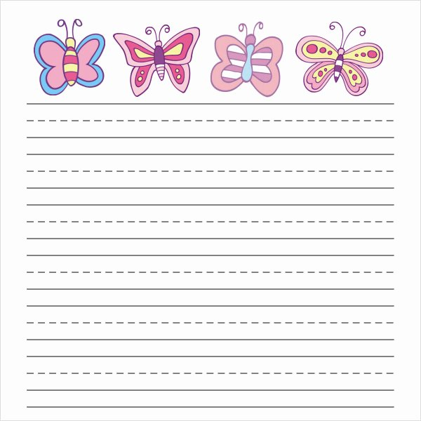 Printable Lined Paper for Kids Luxury Free 6 Printable Writing Paper Templates In Pdf