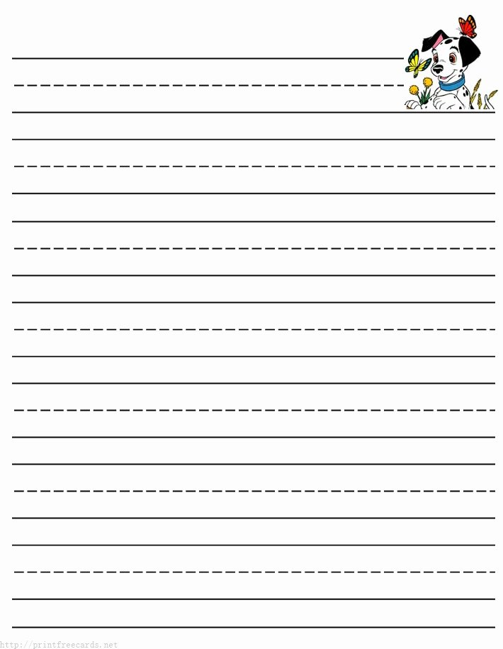 Printable Lined Paper for Kids New Dogs and Puppy Free Printable Stationery for Kids Primary