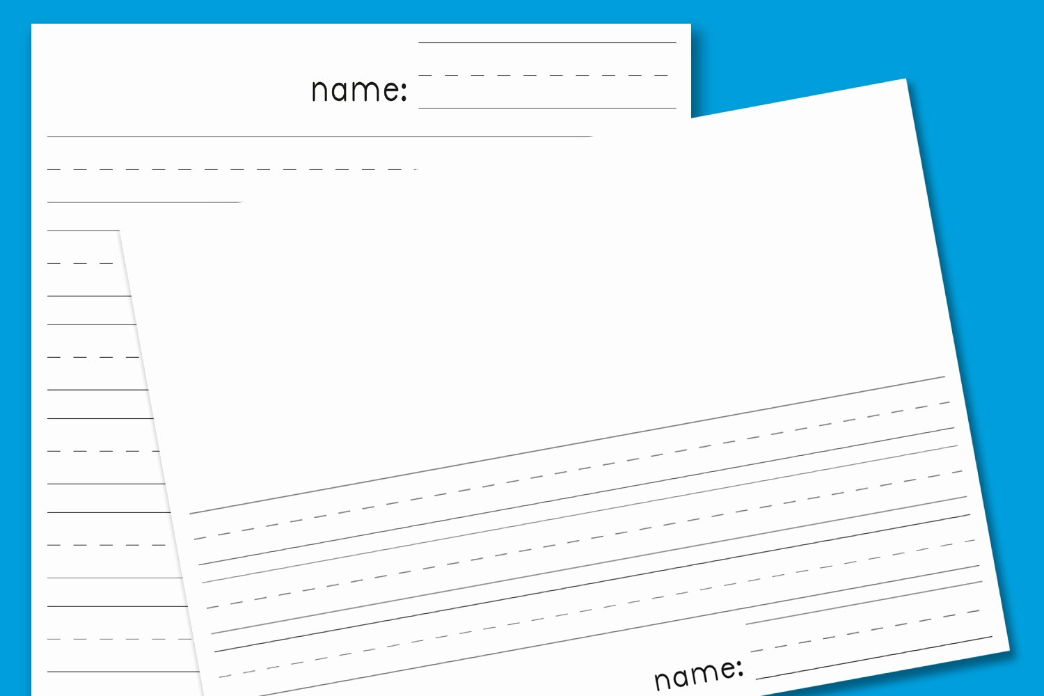 Printable Lined Paper for Kids Unique Kindergarten Blank Lined Paper Paging Supermom