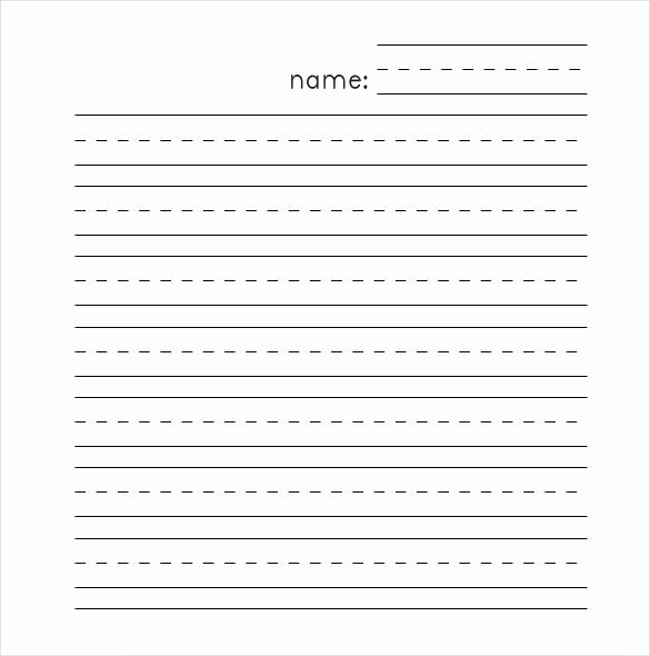 Printable Lined Paper for Kids Unique Lined Paper Template – 12 Free Word Excel Pdf Documents