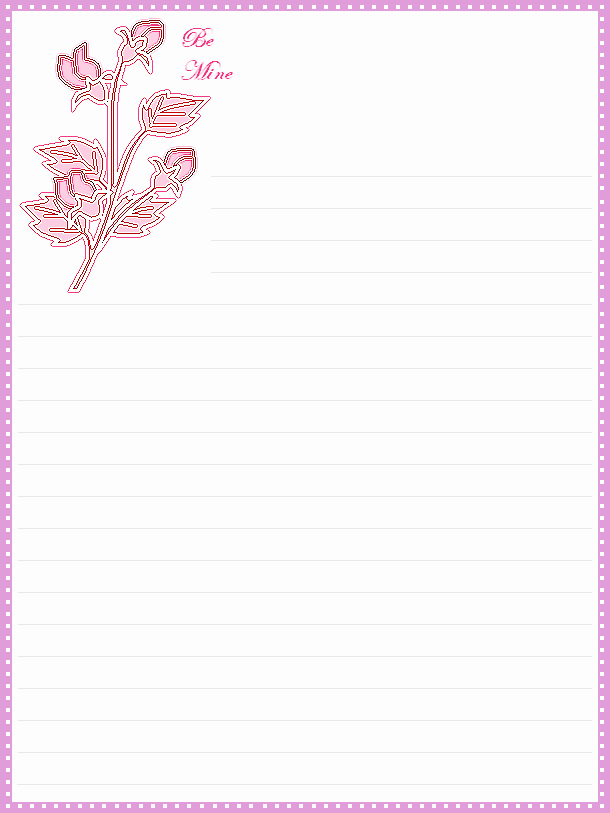 Printable Lined Stationery Paper Inspirational Free Printable Valentine S Day Lined Stationery