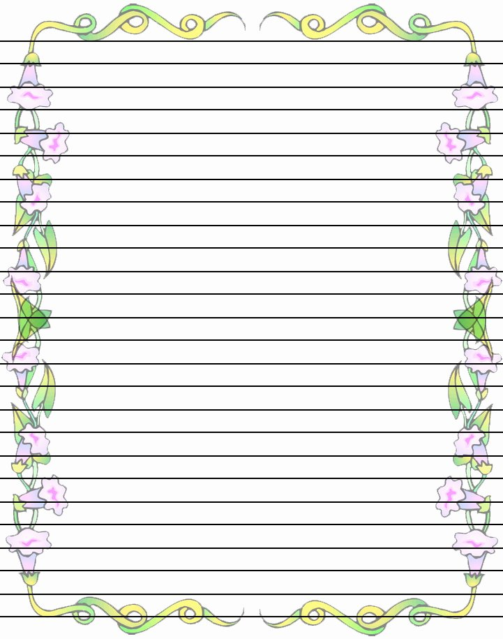 Printable Lined Stationery Paper Lovely Free Free Printable Border Designs for Paper Download