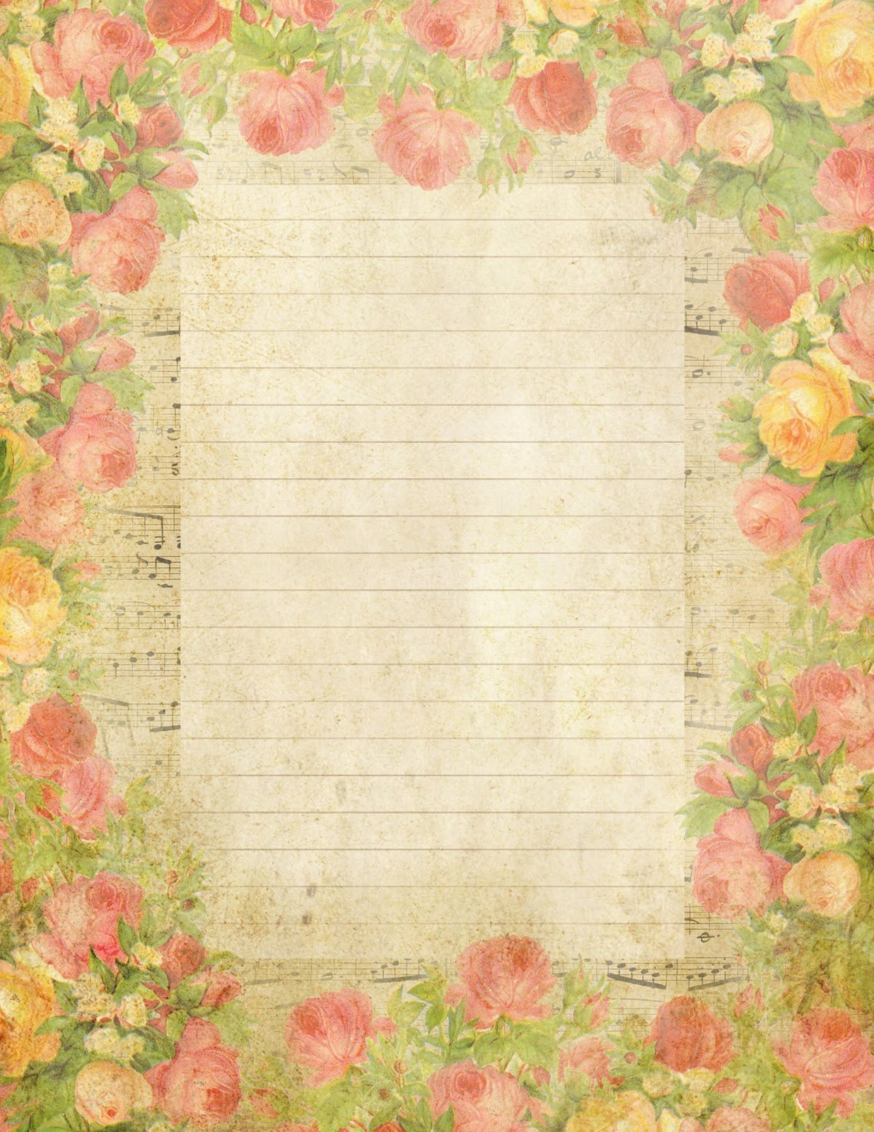 Printable Lined Stationery Paper Unique Lilac & Lavender May 2012