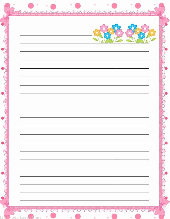 Printable Lined Writing Paper Best Of Free Lined Handwriting Paper with Border