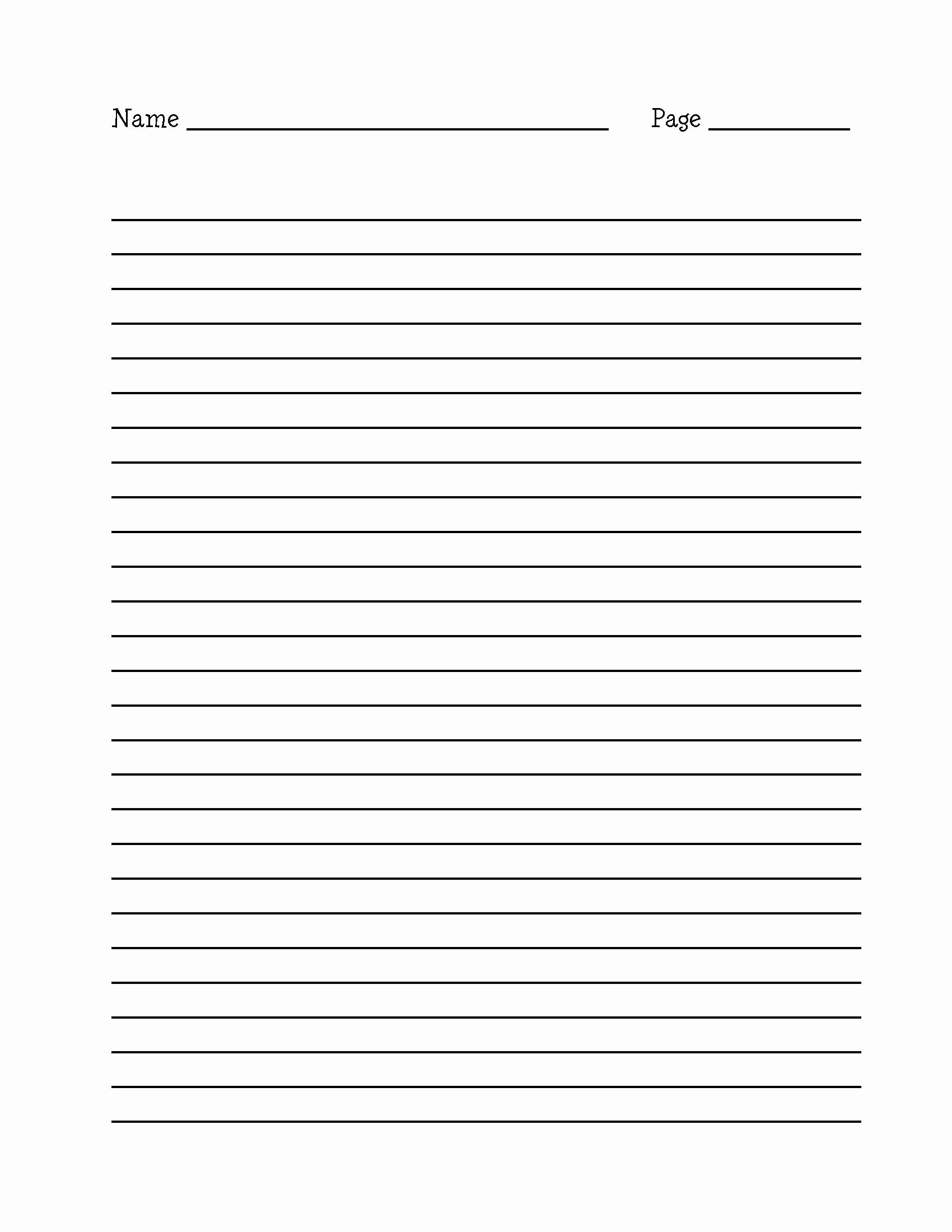 Printable Lined Writing Paper New 15 Best Of Long Lined Paper Worksheets 4th Grade