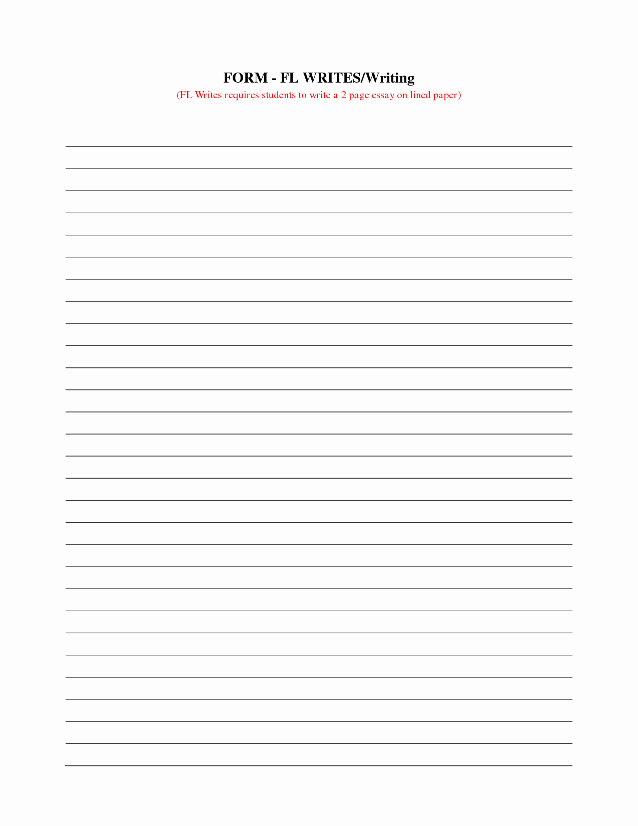 Printable Lined Writing Paper Unique 15 Best Of Long Lined Paper Worksheets 4th Grade