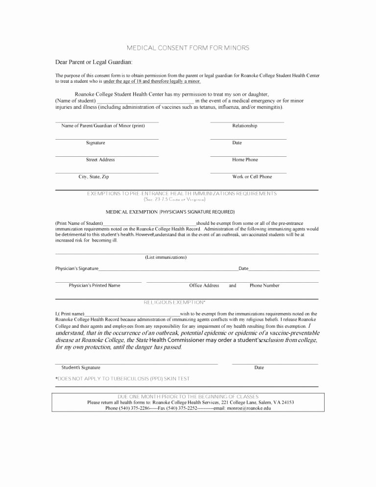 Printable Medical Consent forms Elegant 45 Medical Consent forms Free Printable Templates