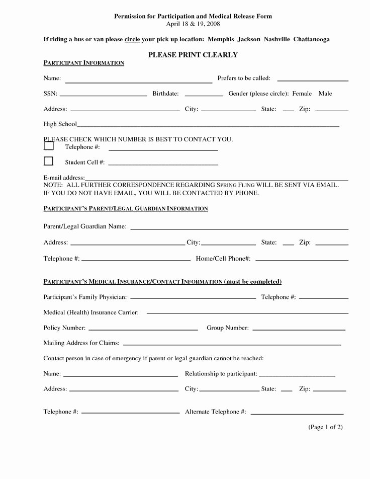 Printable Medical Consent forms Unique 17 Best Images About Medical Release On Pinterest