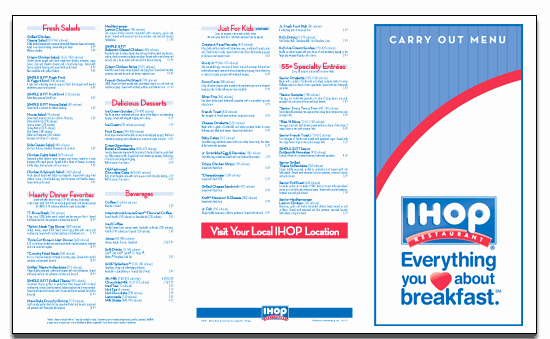 Printable Menu with Prices Awesome Ihop Able Menu Brand Coupons