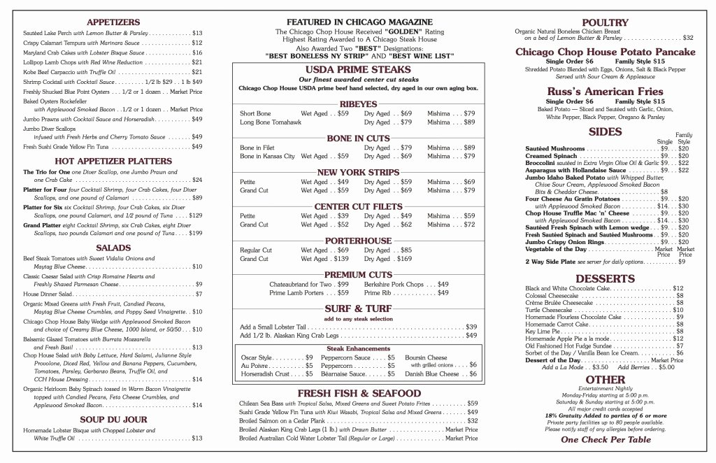 Printable Menu with Prices Beautiful Red Lobster Menu with Prices 2018