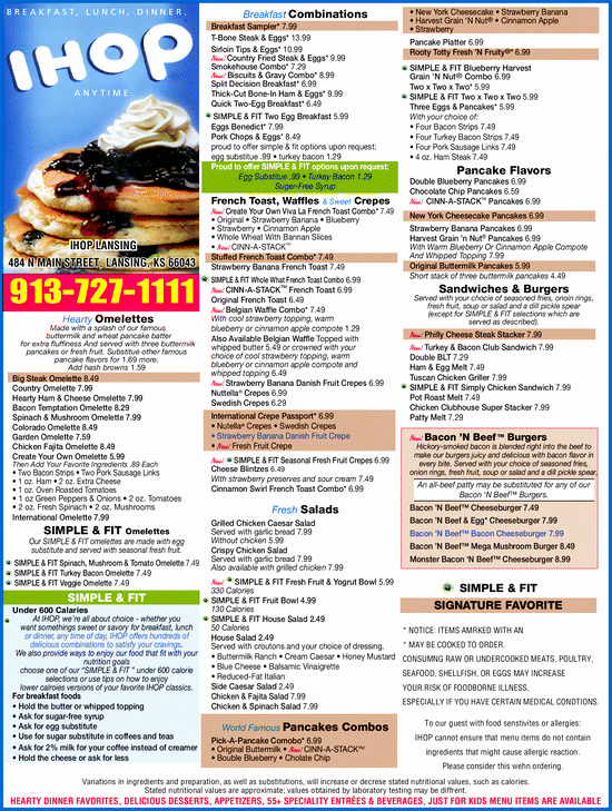 Printable Menu with Prices Inspirational Ihop Able Menu Brand Coupons