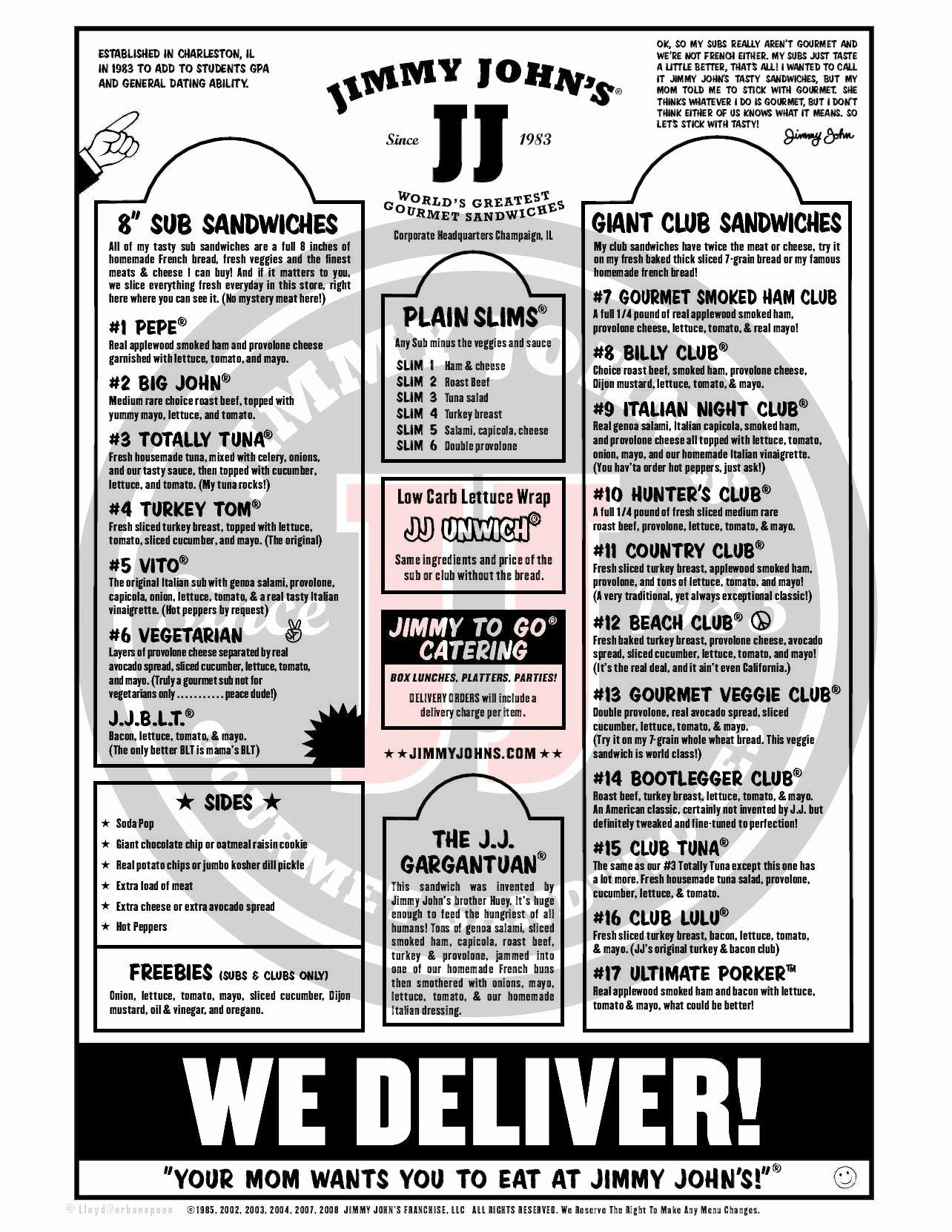 Printable Menu with Prices Inspirational Jimmy John S Menu Menu for Jimmy John S Nacogdoches