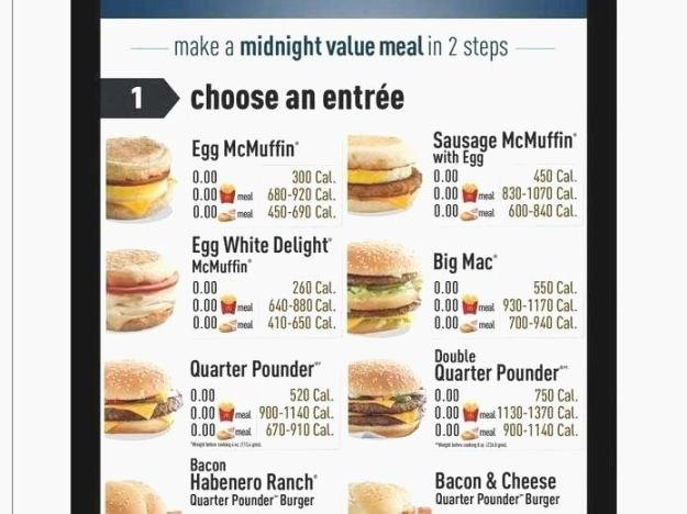 Printable Menu with Prices Inspirational top Current Mcdonalds Printable Menu