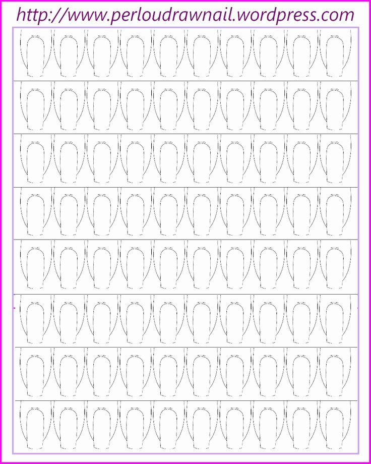 Printable Nail Art Templates Awesome 95 Best Images About Planches D Ongles Fiches Templates On