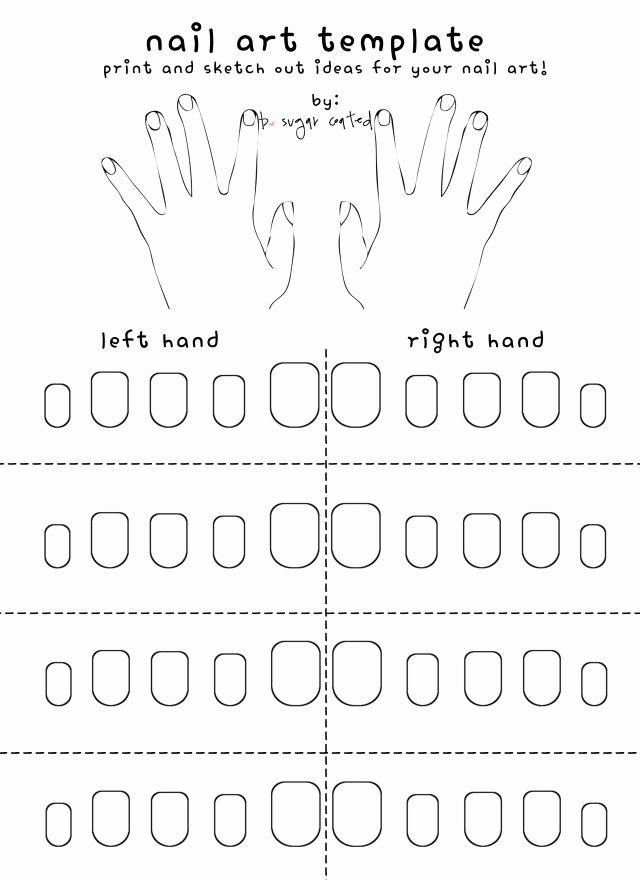 Printable Nail Art Templates Awesome Free Printable Nail Art Template