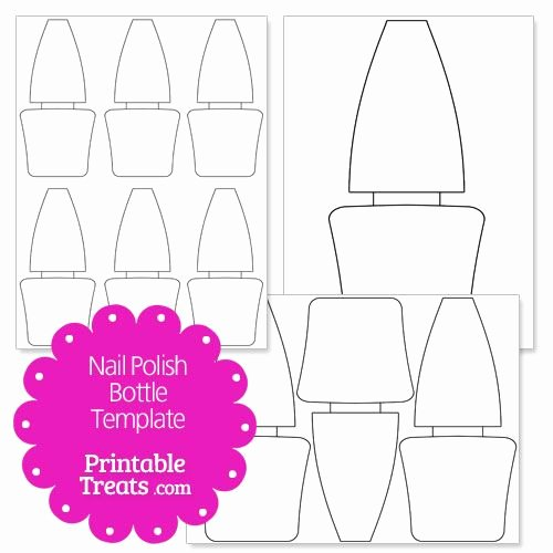 Printable Nail Art Templates Best Of Printable Nail Polish Bottle Shape Template
