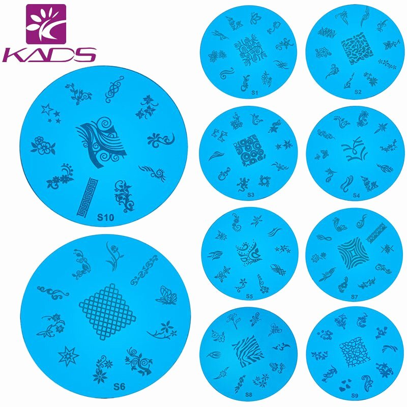Printable Nail Art Templates New Kads 1pcs Lot Nail Art Stencils Stamping Template Polish