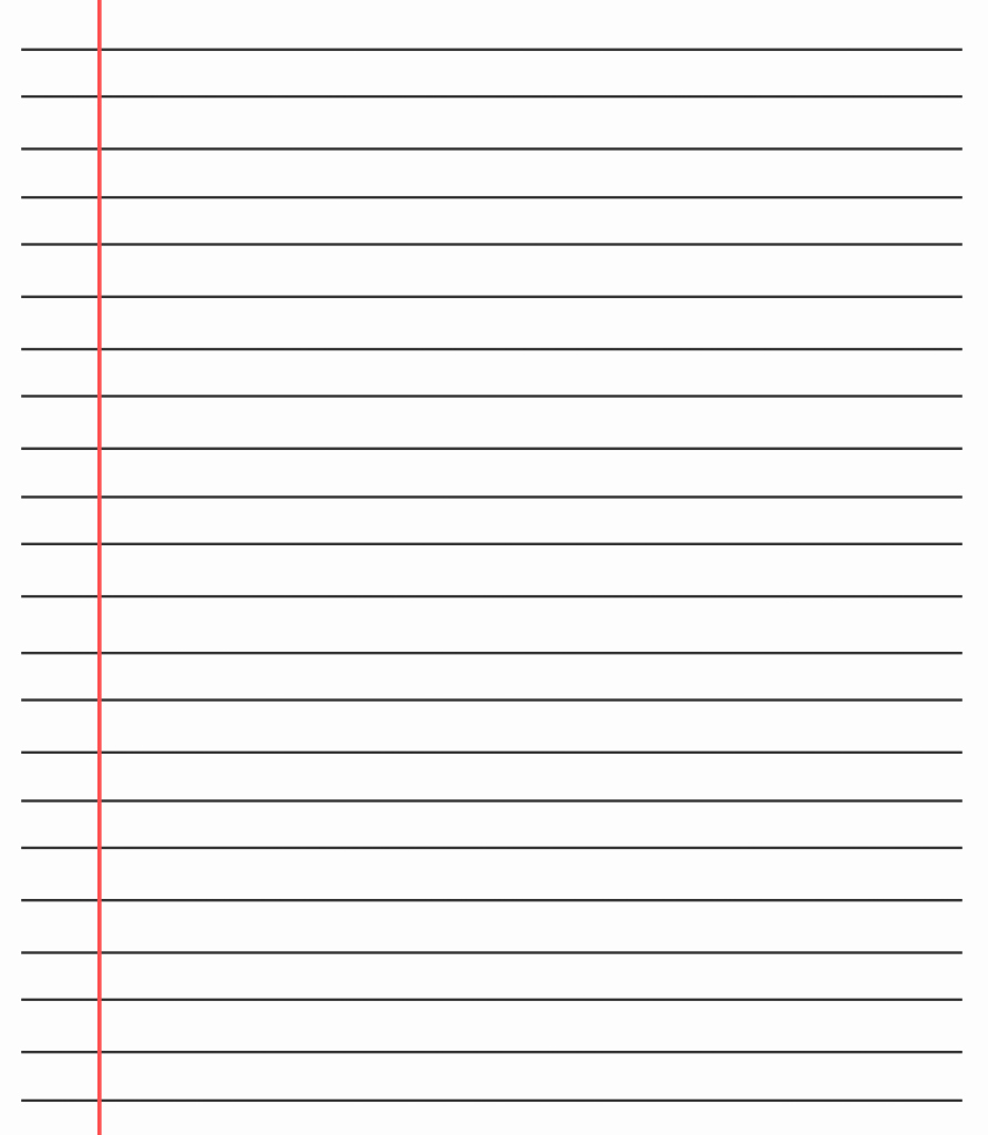 Printable Notebook Paper Wide Ruled Awesome 20 Free Printable Blank Lined Paper Template In Pdf